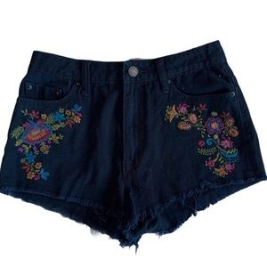 BDG high rise dree cheeky embroidery accent shorts